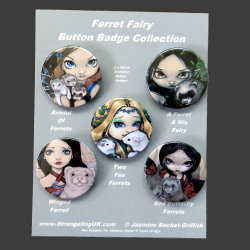 Ferret Fairy Badge Set