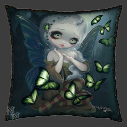 Absinthe Butterflies Cushion Front