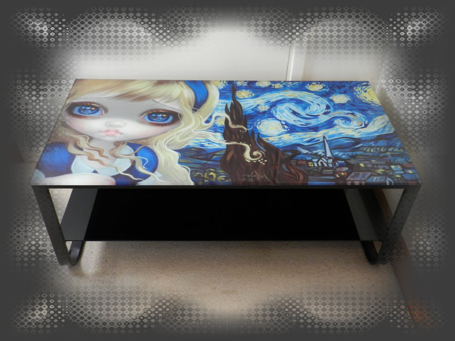 Alice In The Starry Night Table With Shelf
