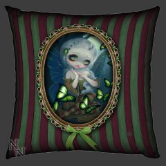 Absinthe Butterflies Cushion Back